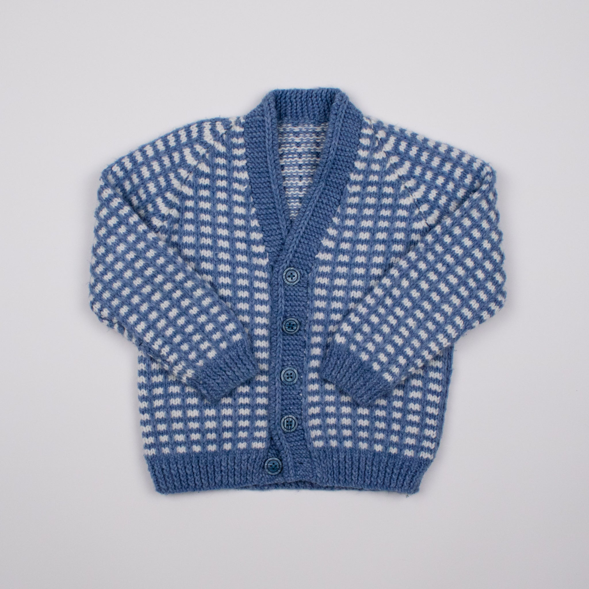 Blue/White Cardigan 3-4Y