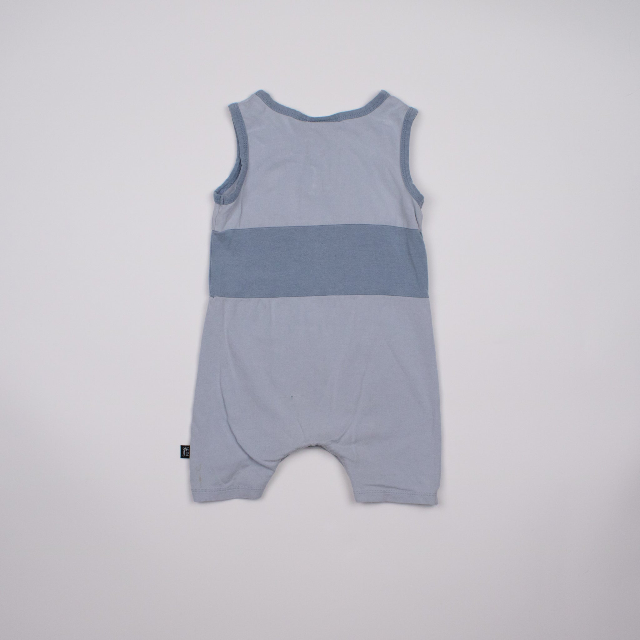 Blue Sleeveless Jumpsuit 1-2Y