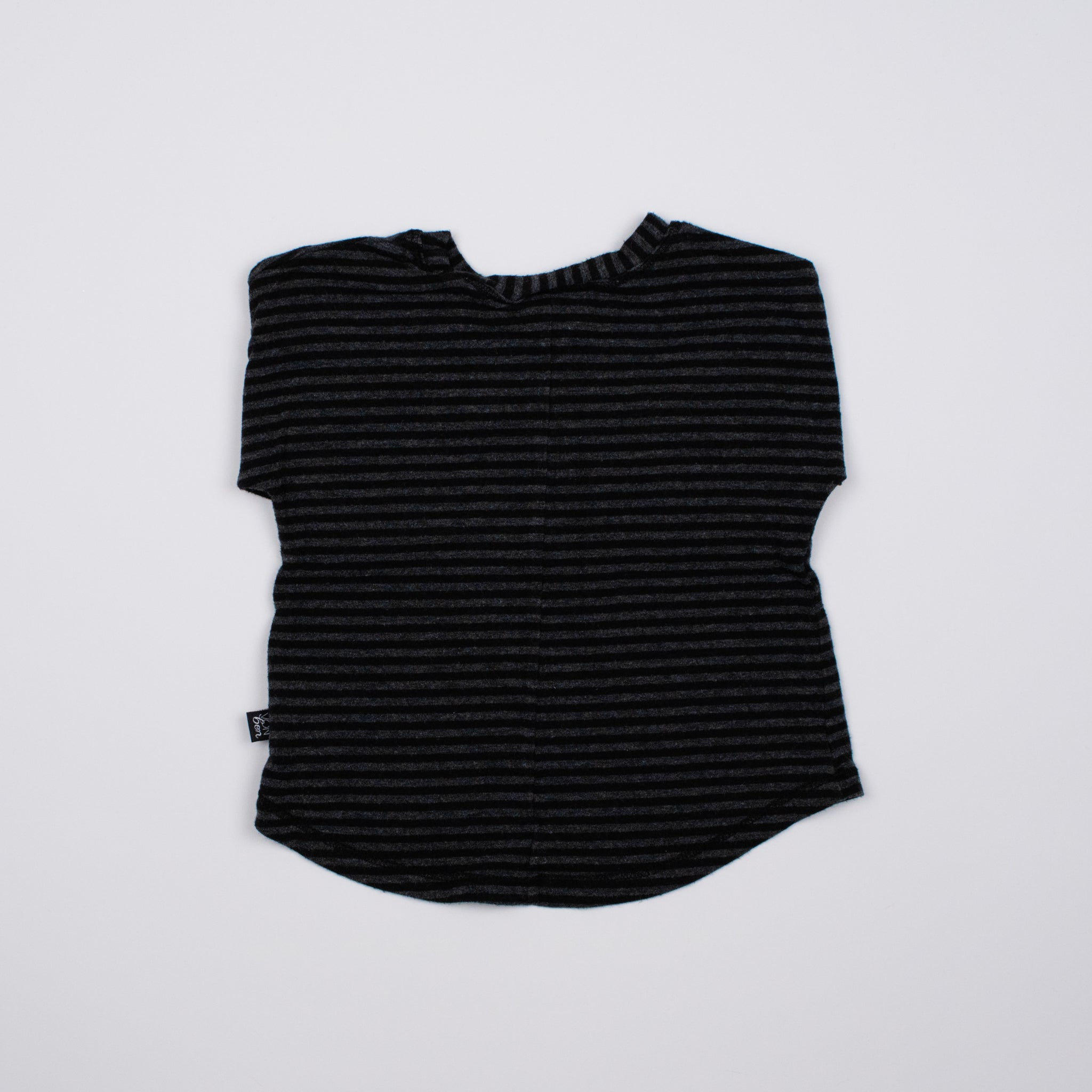 Black/Grey Stripe 3/4 Sleeve Tee 0-1Y