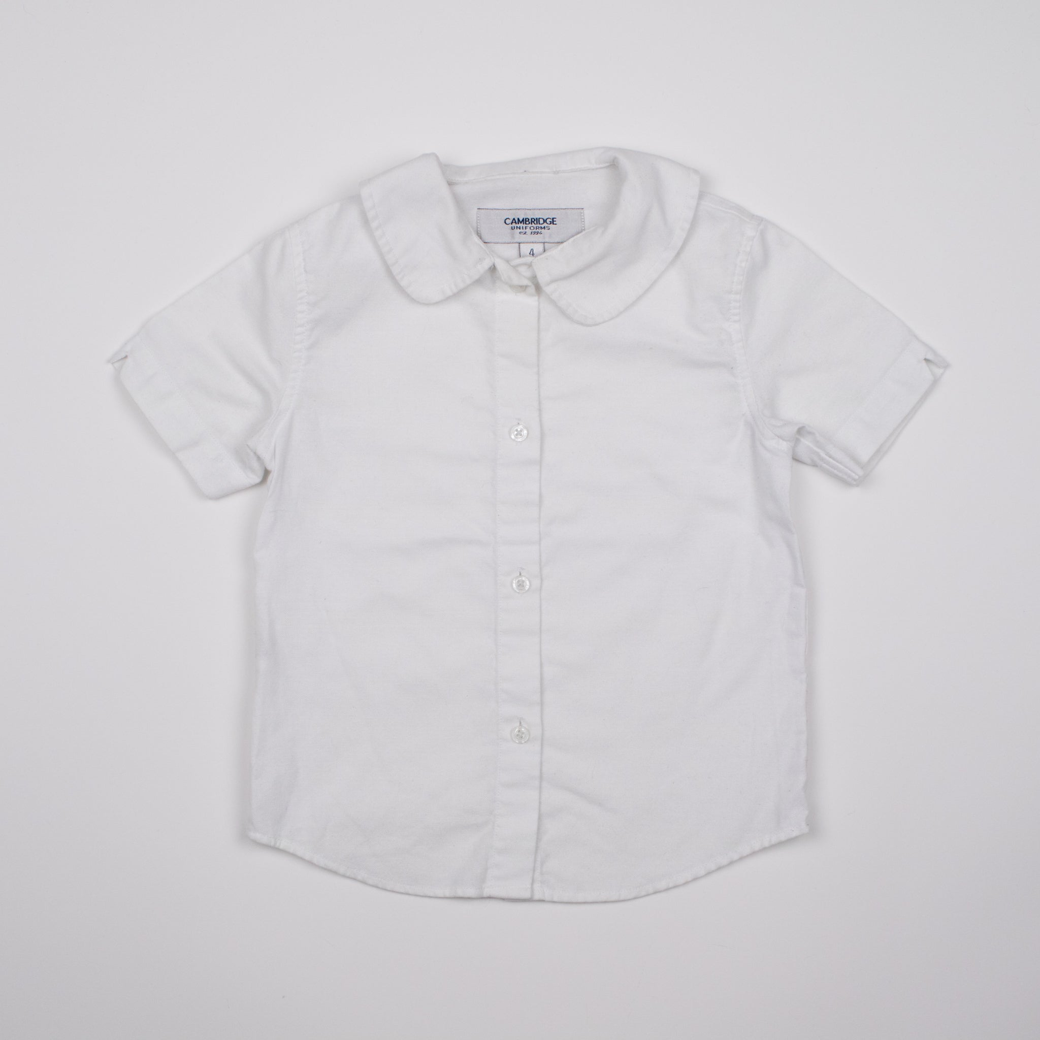 White Peter Pan Collar Shirt 4-5Y