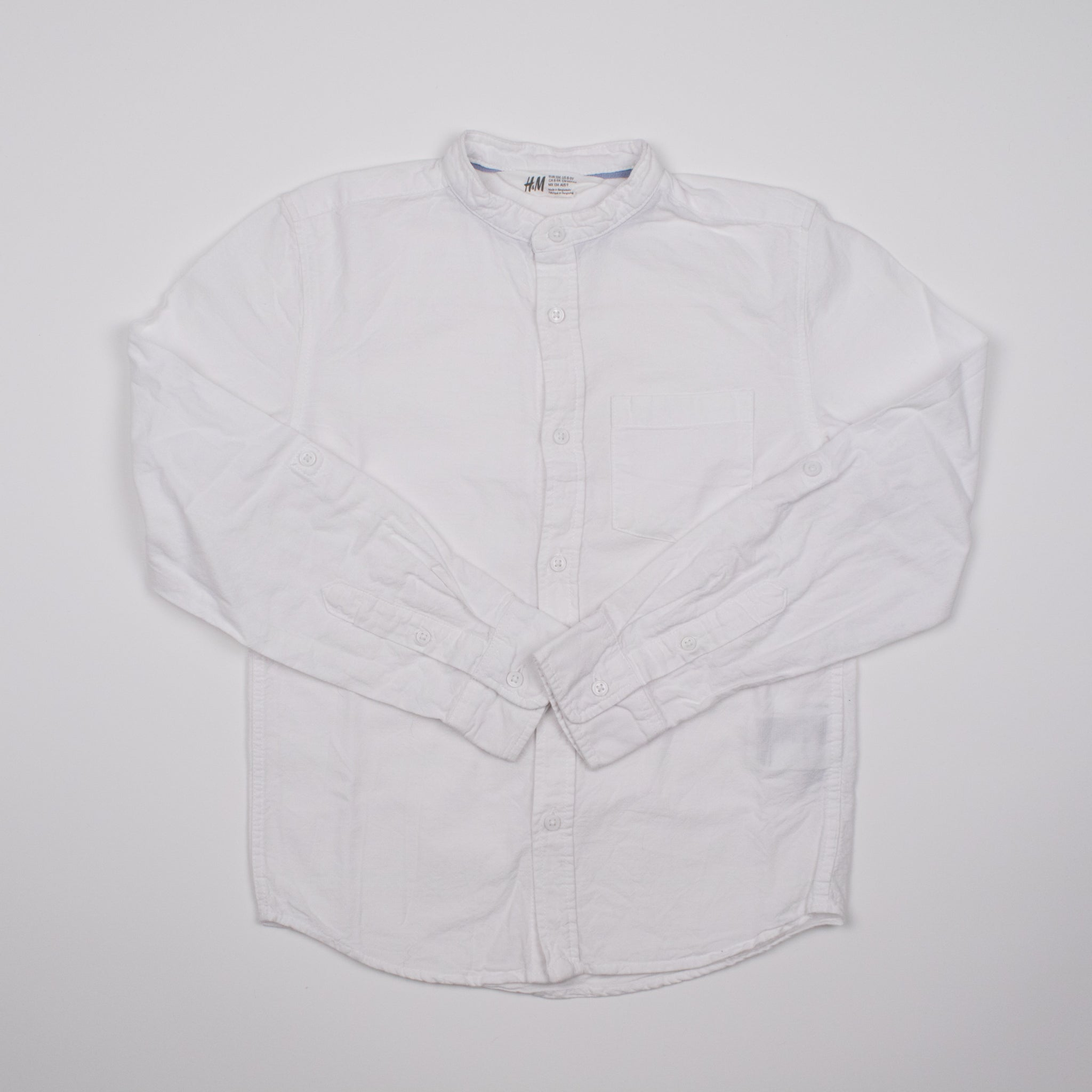 White Button-up Shirt 8-9Y
