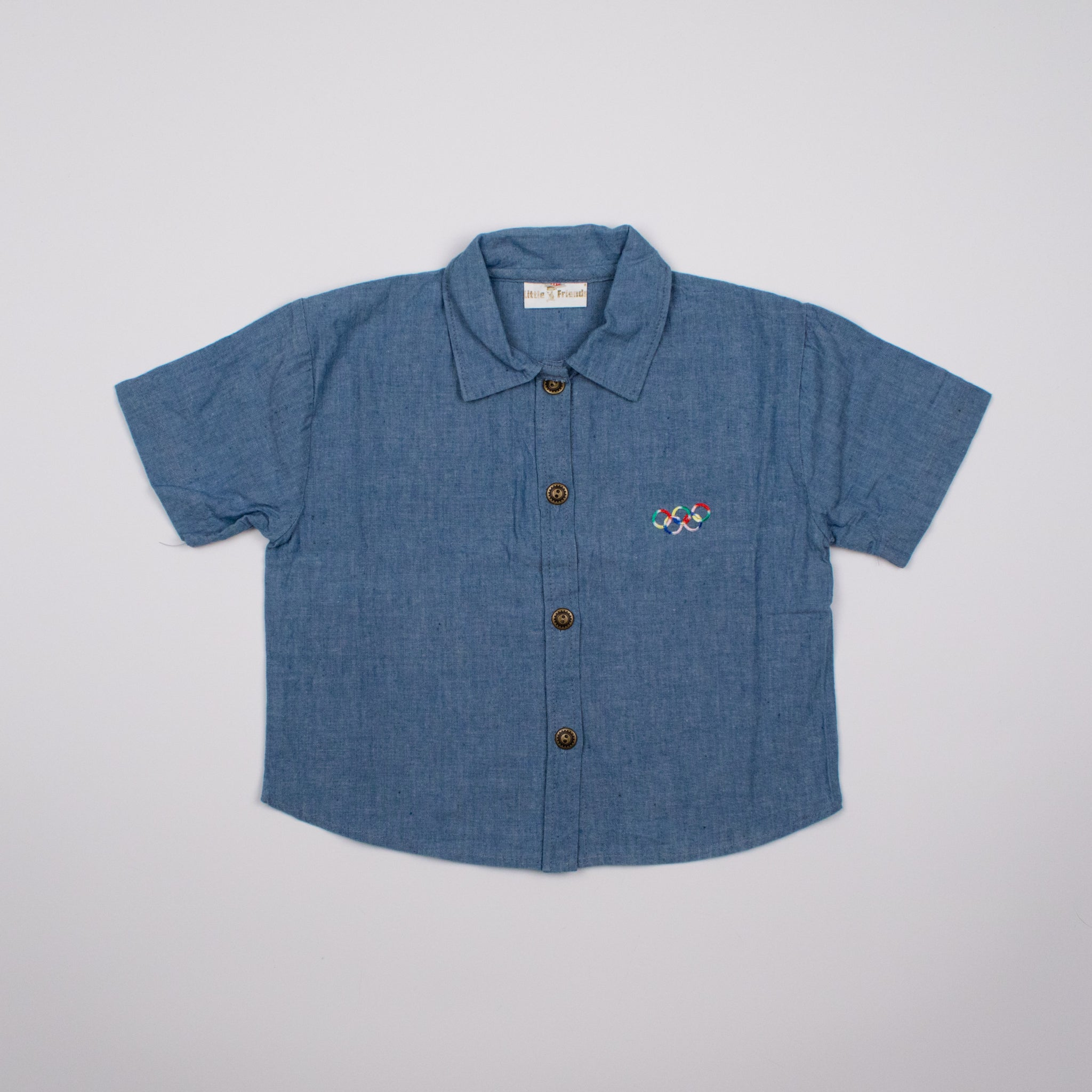 "Vintage Denim ""Olympics"" Crop Shirt 5-6Y"
