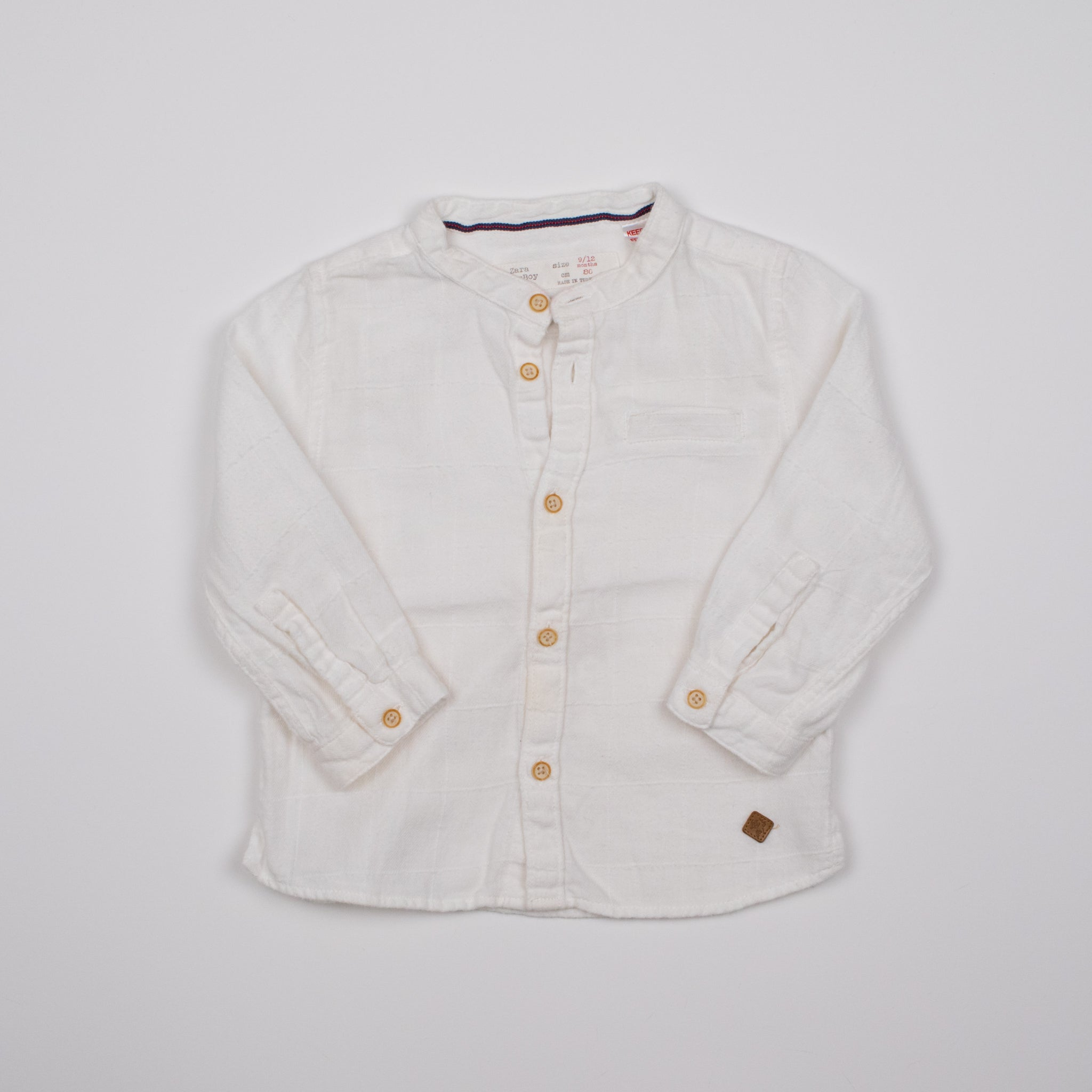 Cream Button-front Shirt 0-1Y