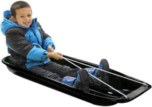 Load image into Gallery viewer, Avalanche Brands - Classic Downhill Toboggan Snow Sled - Black 48""