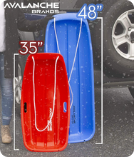 Load image into Gallery viewer, Avalanche Brands - Classic Downhill Toboggan Snow Sled - Red 48""
