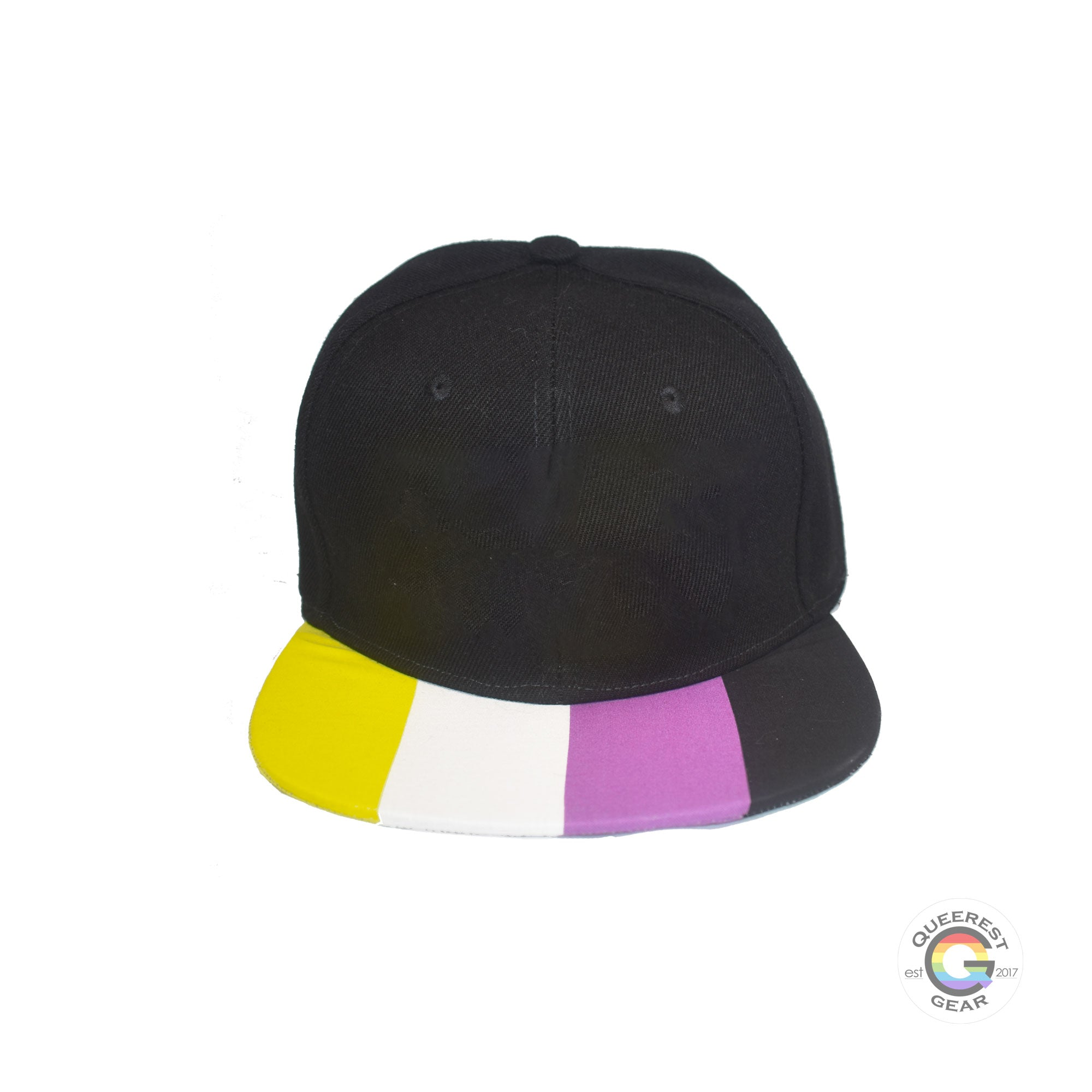 Discreet Textless Pride Hats (multiple brim flags options)