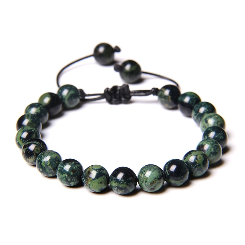 Adjustable Rope Jade Bead Bracelet for Women-Lulata