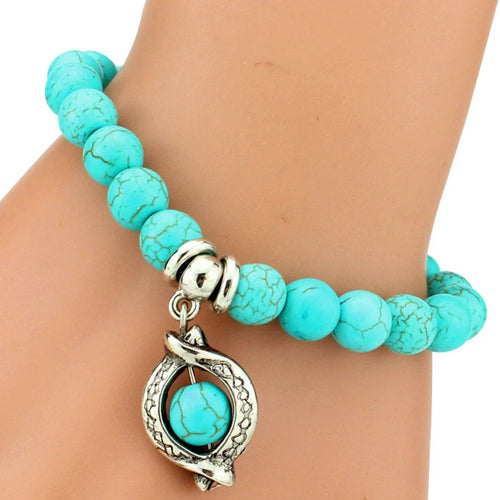 12 Variations Turquoise Bead Bracelet for Women-Lulata