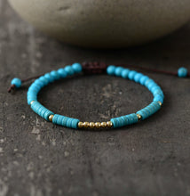 Load image into Gallery viewer, Tibetan Turquoise Stone Bead Jewelry Bracelet for Men and Women-Lulata
