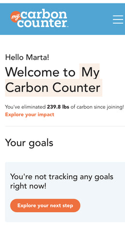 My Carbon Counter™ Personal Dashboard