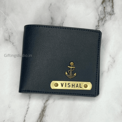customized men's wallet - black
