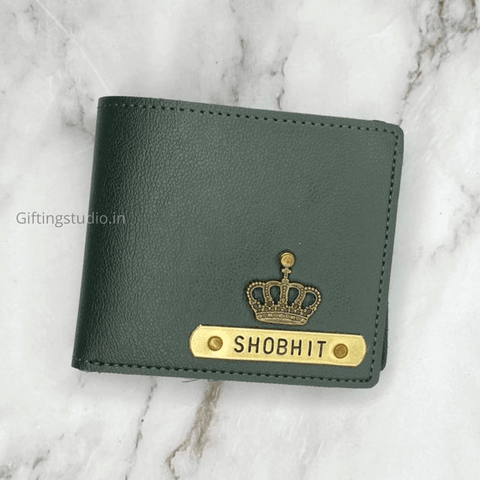 customized men's wallet - Green