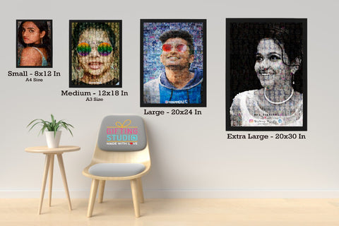 photo mosaic frame sizes