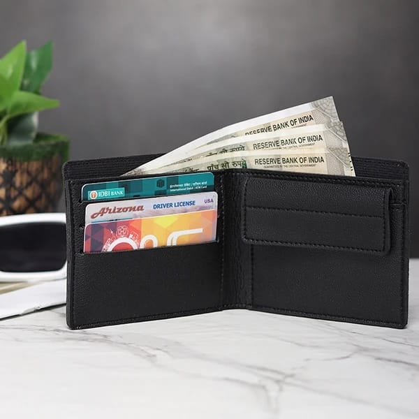 Customized Men's Wallet - Pitch Black
