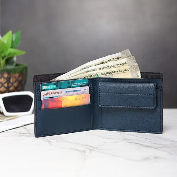 Customized Men's Wallet - Royal Blue