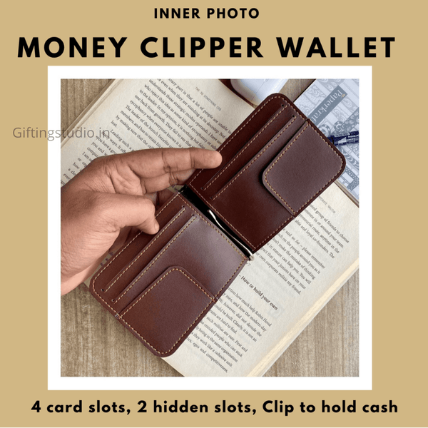 money clip wallet interior