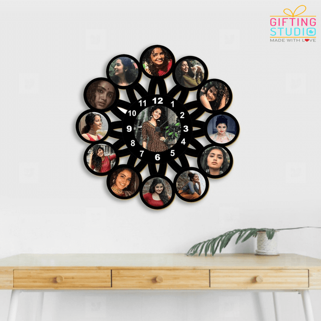 Flower Shaped Customized Clock for wall