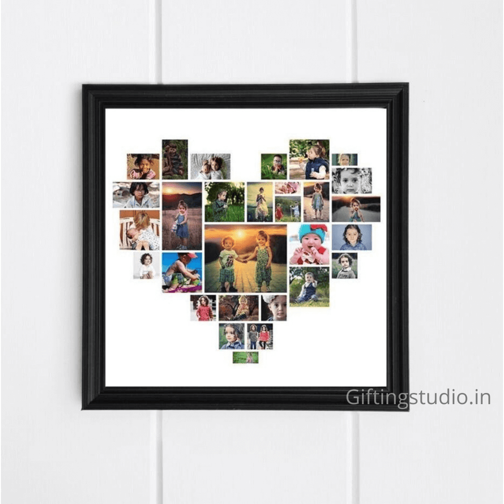 Heart Photo Collage Frame