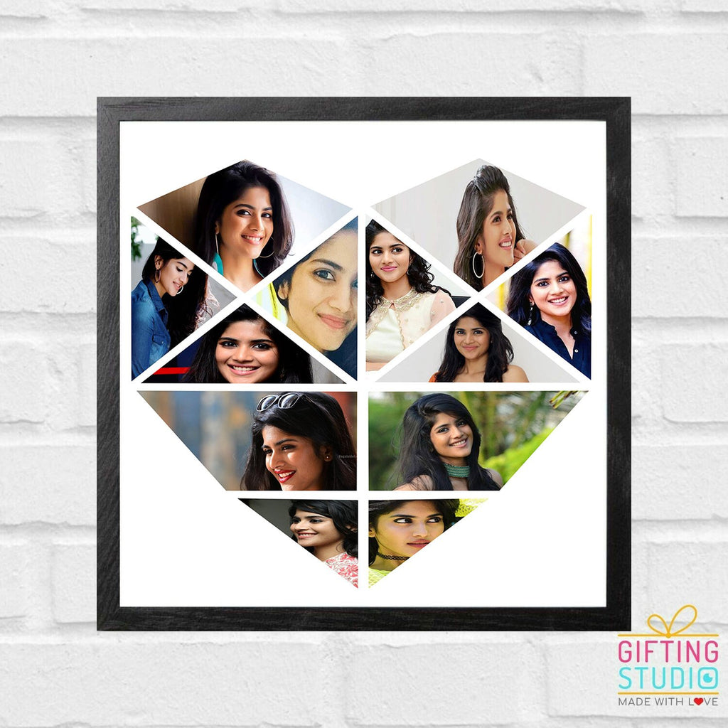 heart shaped collage frame 12 photos