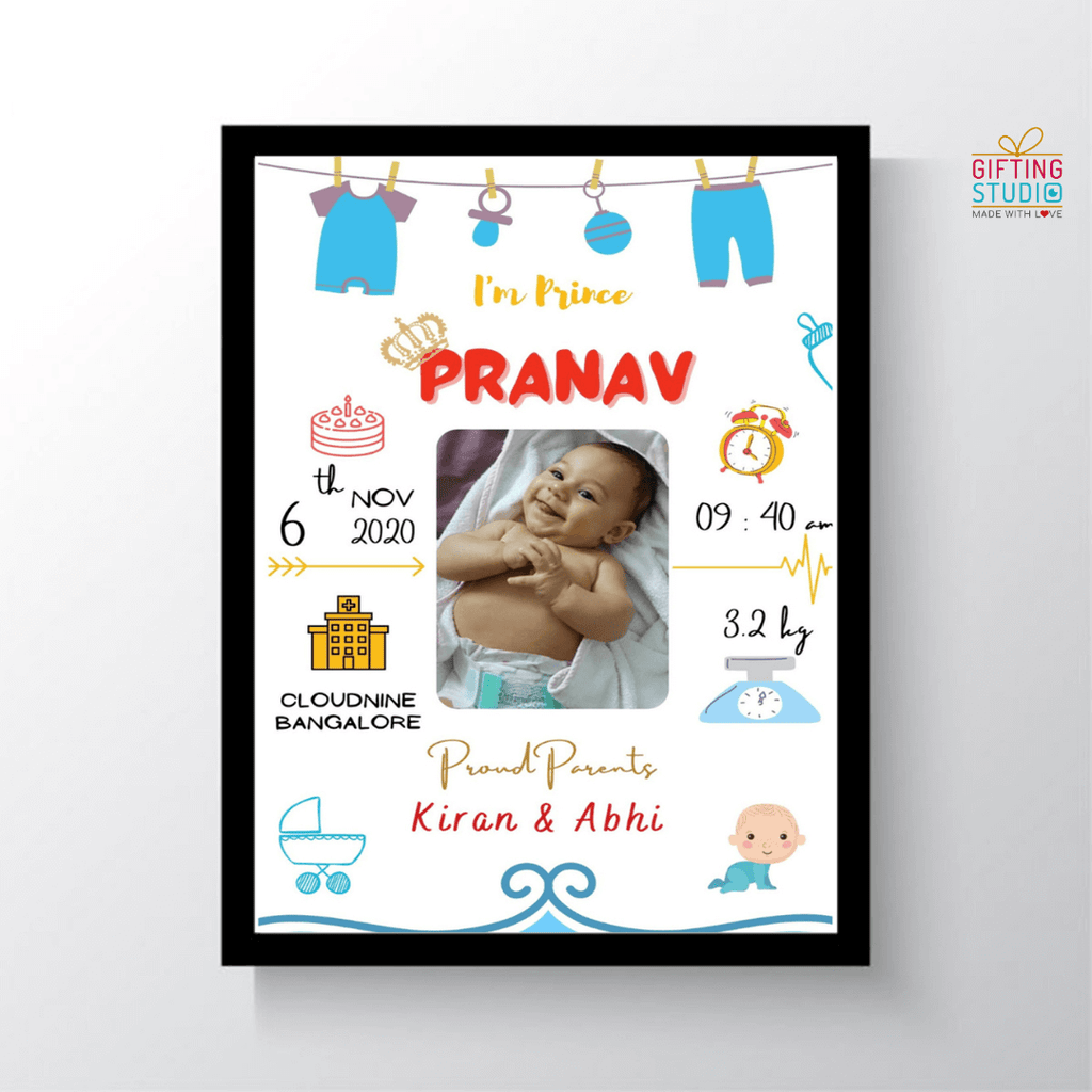 Personalised Baby Birth Frame
