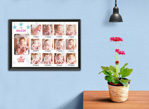 12 months baby photo frame