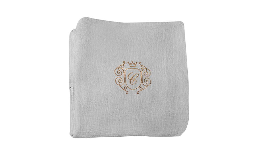Caramella Golden Chic Swaddling Blanket Grey - Unique Baby Store