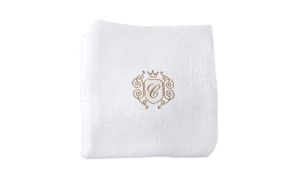 Caramella Golden Chic Swaddling Blanket White - Unique Baby Store