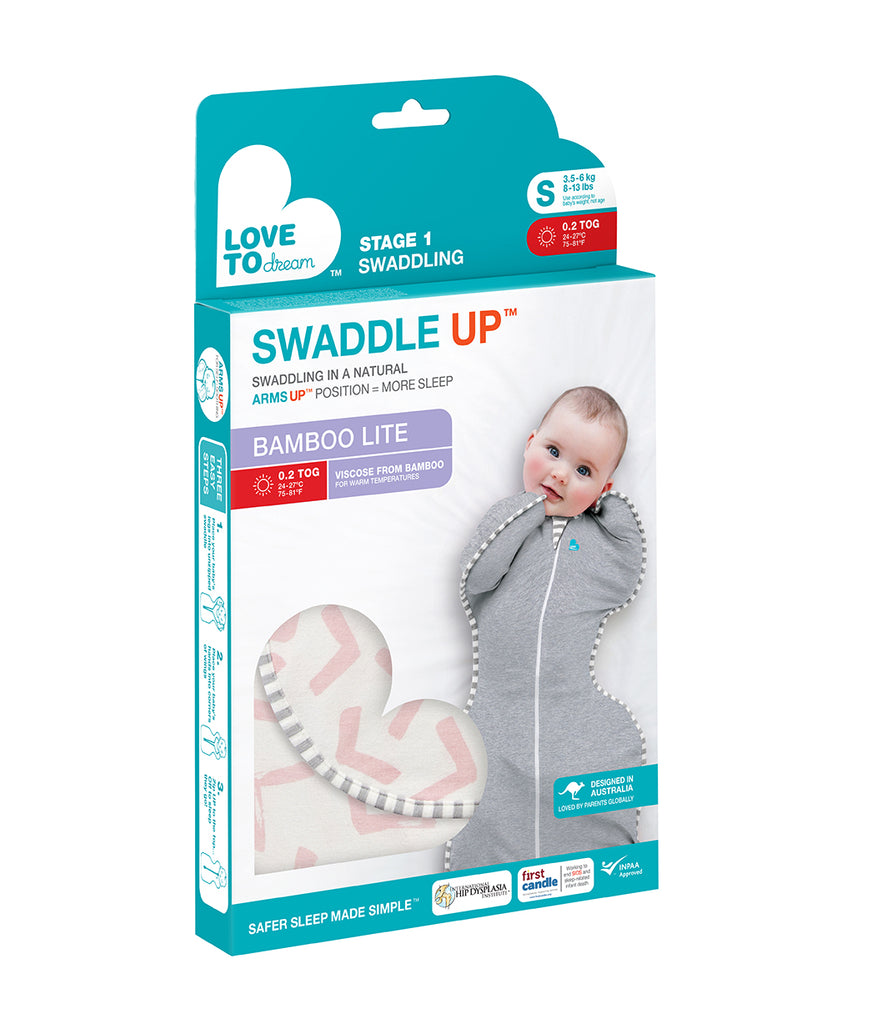 Swaddle Up Bamboo Lite 0.2 TOG Pink - Unique Baby Store