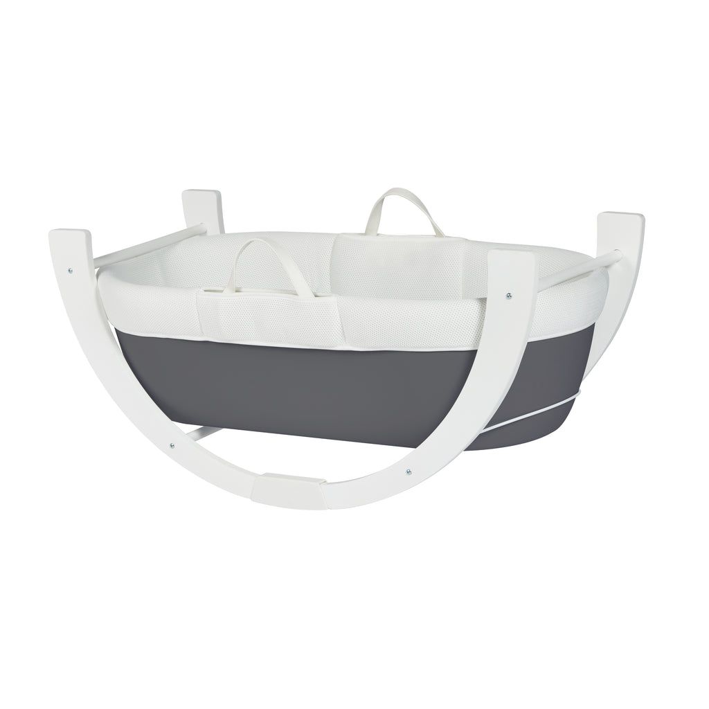 Shnuggle Dreami Moses basket with Stand Slate Grey - Unique Baby Store