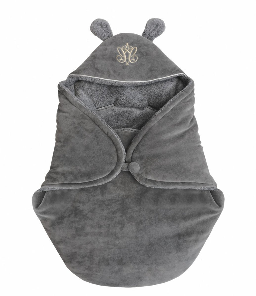 Caramella Anthracite Gloss Sleeping Bag with Ears - Unique Baby Store