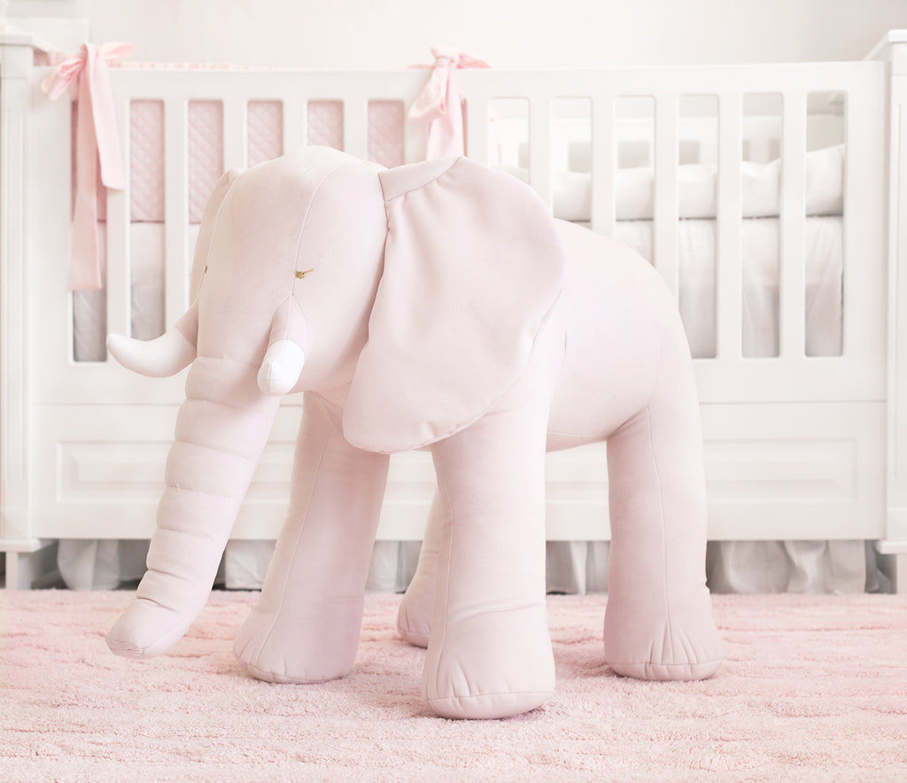 Baby d'Oro Decorative Elephant Pink Velvet - Unique Baby Store