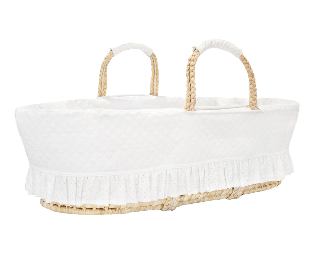 Baby d'Oro Silver Bright Moses Basket - Unique Baby Store