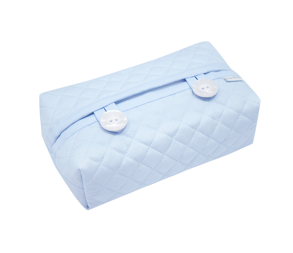 Baby d'Oro Quilted Blue Wipes Cover - Unique Baby Store