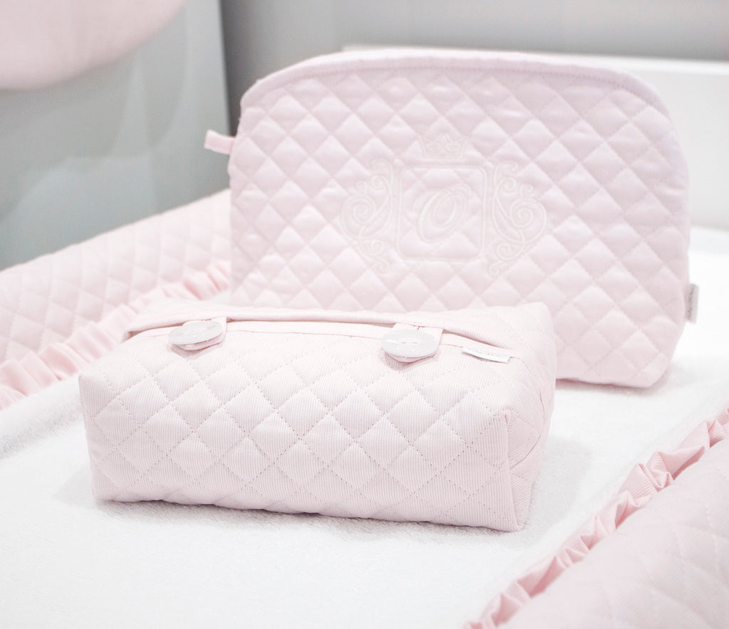 Baby d'Oro Quilted Pink Wipes Cover - Unique Baby Store