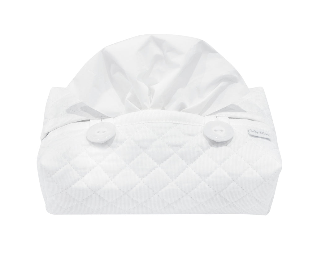 Baby d'Oro Quilted White Wipes Cover - Unique Baby Store