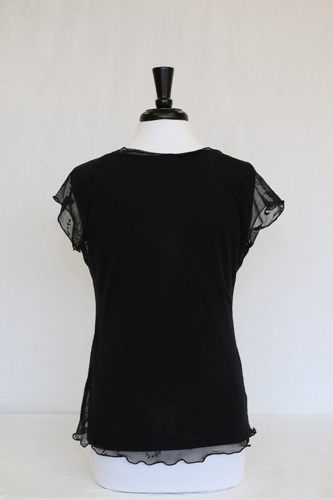 black lace overlay - back