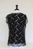 black & silver lace overlay - back