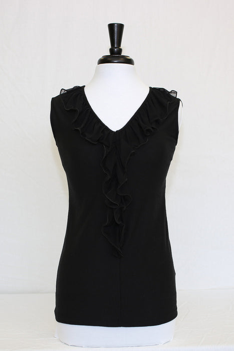 midnight black ruffle - front