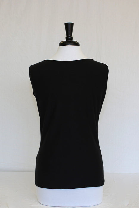 midnight black ruffle - back