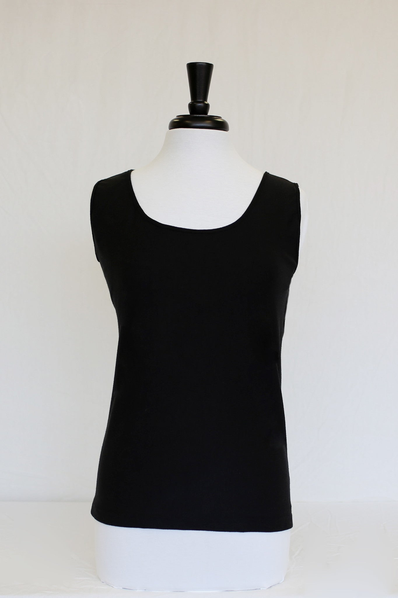 midnight black tank - front