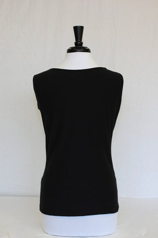 midnight black tank - back