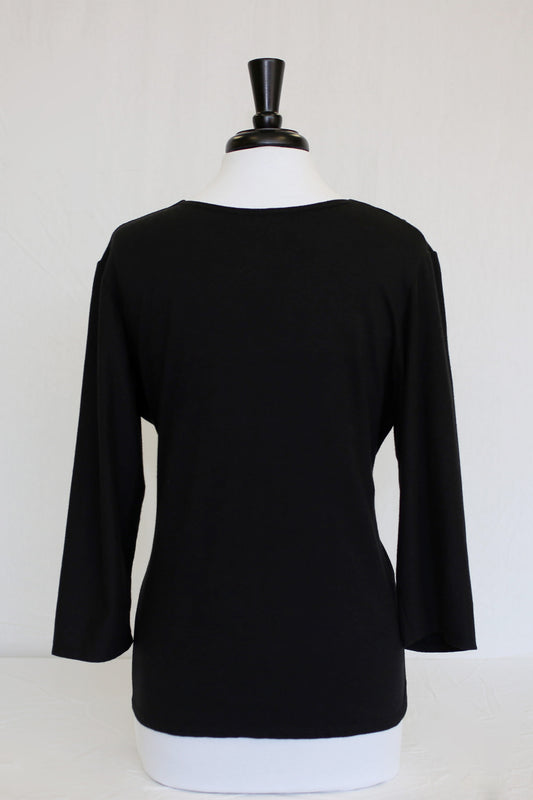 midnight black 3/4 sleeve - back