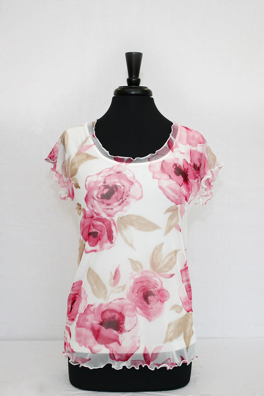 rose floral overlay - front