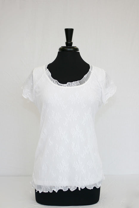 white lace overlay - front