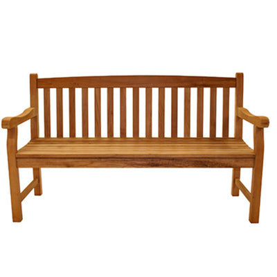 Classic Three Seater Solid Teak Bench by Royal Teak Collection .