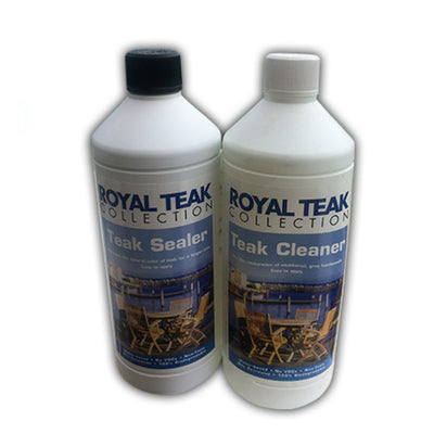 This 2-step Teak Care Kit by Royal Teak Collection.