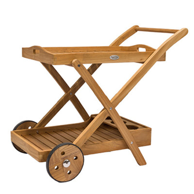 Teak Tray Cart by Royal Teak Collection.