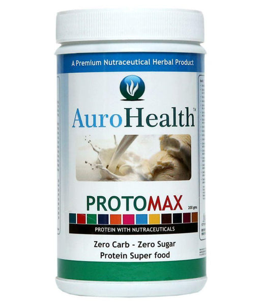 AuroHealth Protomax - Zero Carb Zero Sugar AuroHealth Protomax 80% Protein Super Food 200gms 100% Natural Herbal Products