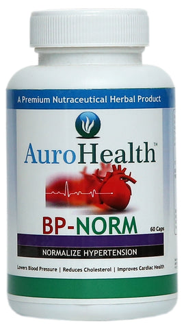 Urzano's BP-Norm Natural 60 Capsules for Normalize Hypertension (A Premium Nutraceutical Herbal Product)