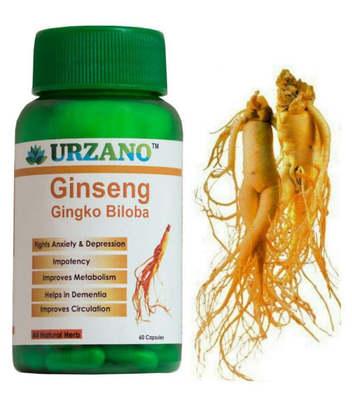 Ginserg Gingko Biloba Energy Booster Extract Health Supplement Capsules